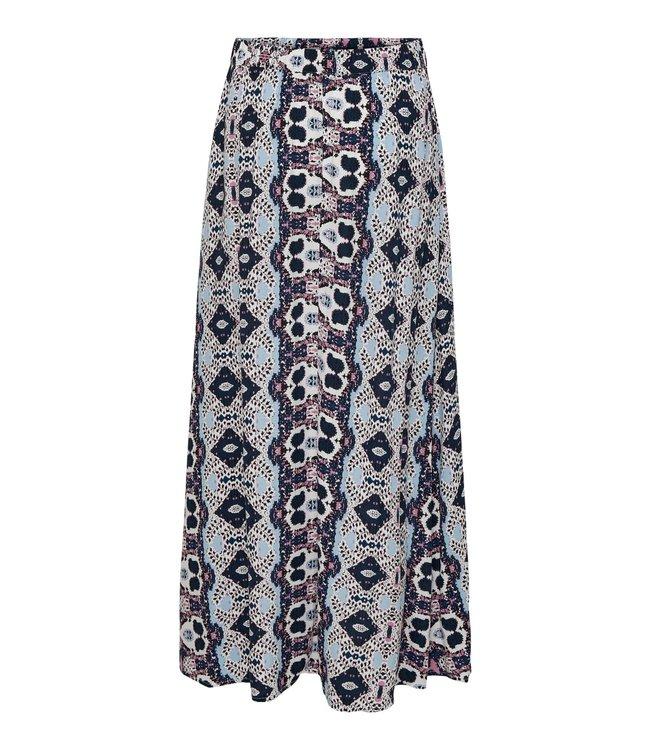 JDYJAYA Life HW Maxi Skirt - Cloud Dancer BLUE COMBI