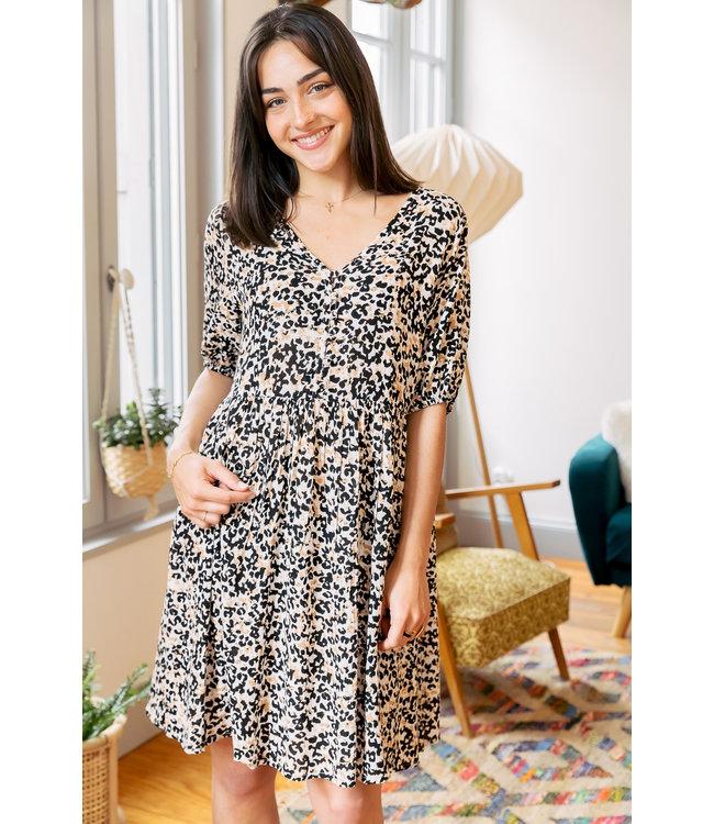 IHMARRAKECH AOP Dress 7 - Tan