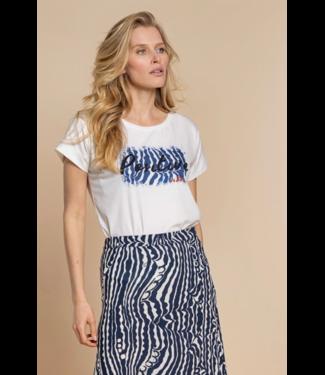 Geisha T-shirt 12319 - Off White/Navy