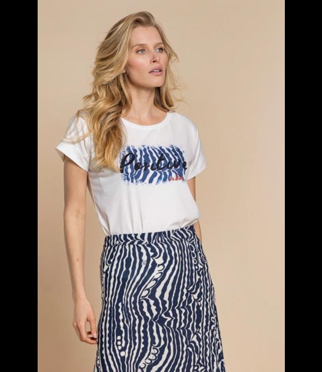 T-shirt 12319 - Off White/Navy