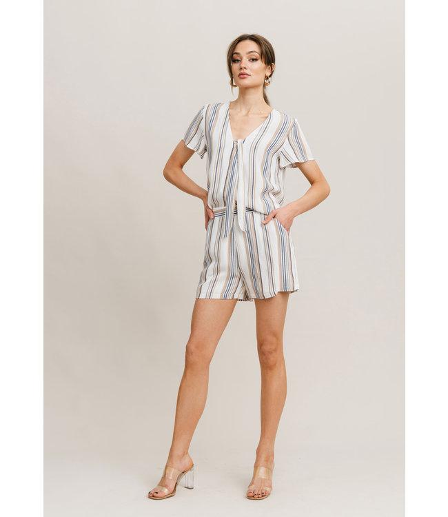 Vendela Shorts - Multi Color Stripe