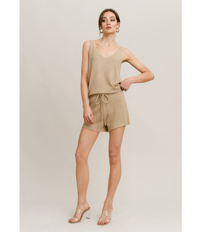 Alma Knit Shorts - Beige