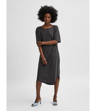 Selected Femme SLFIVY 2/4 Beach Dress Solid M - Black
