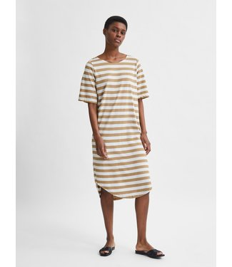 Selected Femme SLFIVY 2/4 Beach Dress Stripe M - Kelp Stripes