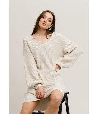 Rut&Circle Miranda Knit Dress - Light Beige