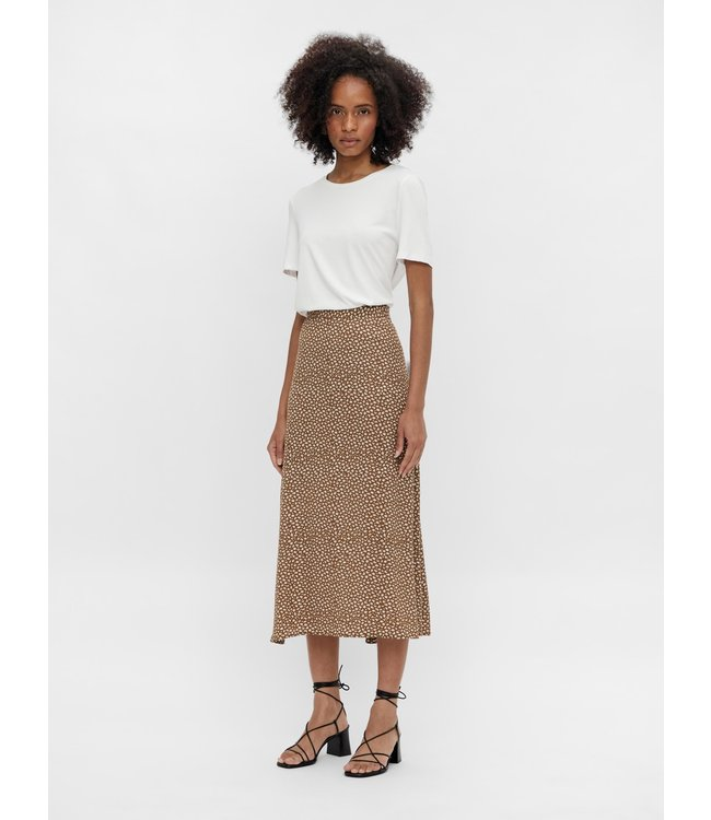 OBJBOBBIE HW Midi Skirt - Sepia