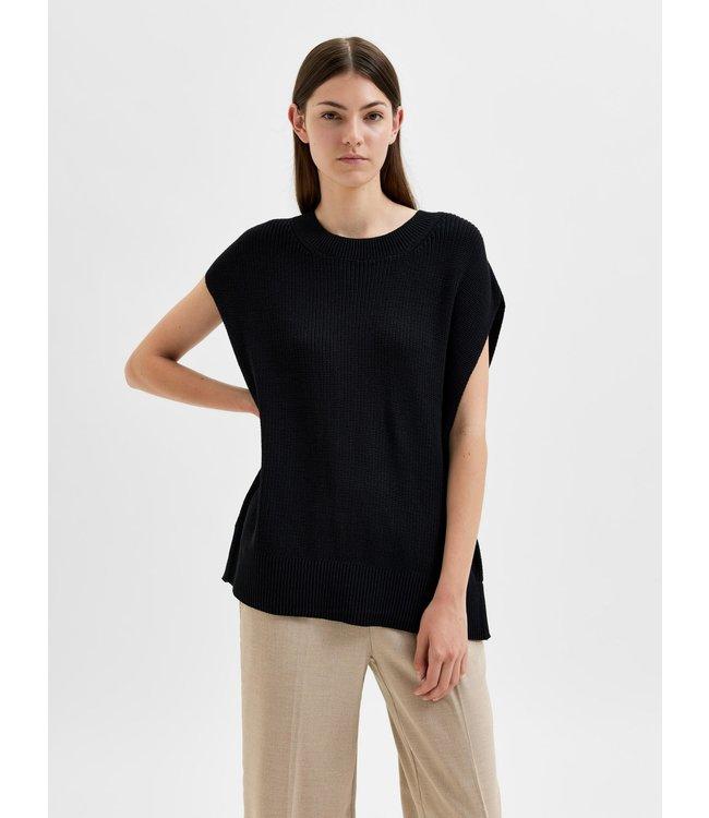 SLFPALMA Knit Vest O-Neck - Black