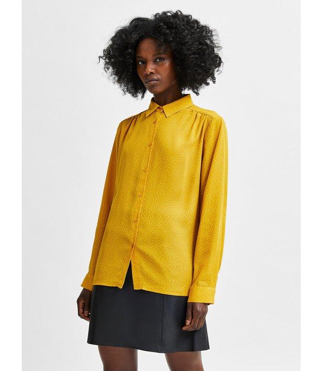 SLFSIGNA-DYNELLA LS AOP Shirt B - Arrowwood AOP