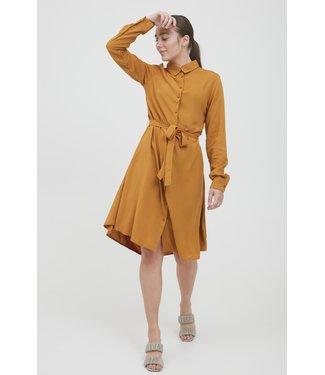 ICHI IHMAIN Dress - Sudan Brown