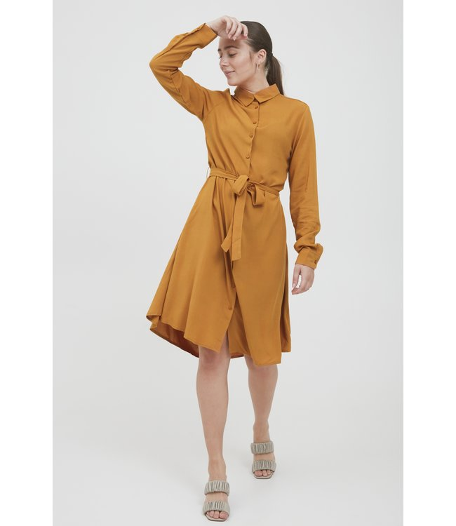 IHMAIN Dress - Sudan Brown