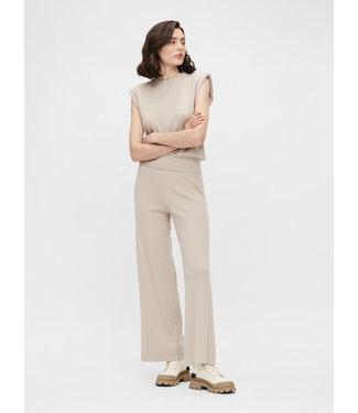 Object OBJDEVOE Knit Pants - Silver Gray