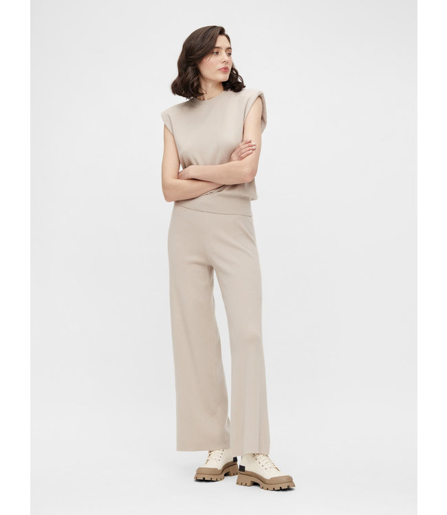 OBJDEVOE Knit Pants - Silver Gray