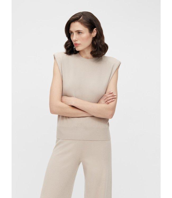 OBJDEVOE SL Knit Top - Silver Gray