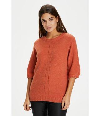 Kaffe KAfabiola Knit Pullover - Apricot Brandy