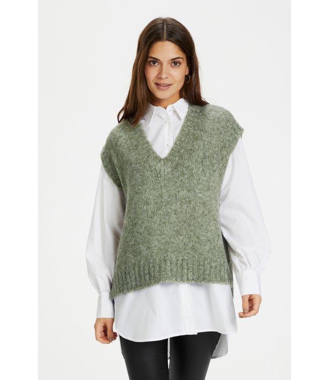 KAalioma Knit Vest - Hedge Green Melange
