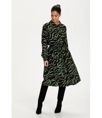 Kaffe KAziana Dress - Black, Hedge Zebra Print