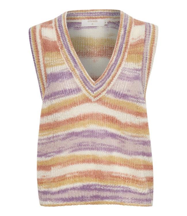 CRErica Slipover - Purple multi stripe