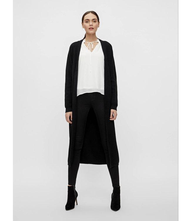 OBJMALENA Knit Long Cardigan - Black