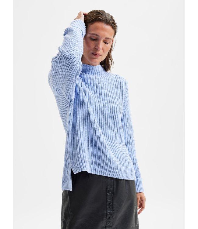 SLFSELMA Knit Pullover - Brunnera Blue