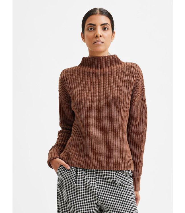 SLFSELMA Knit Pullover - Carafe