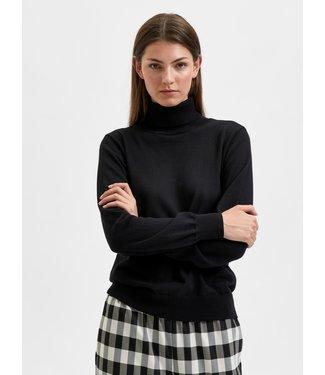 Selected Femme SLFNYLA Knit Roll Neck - Black