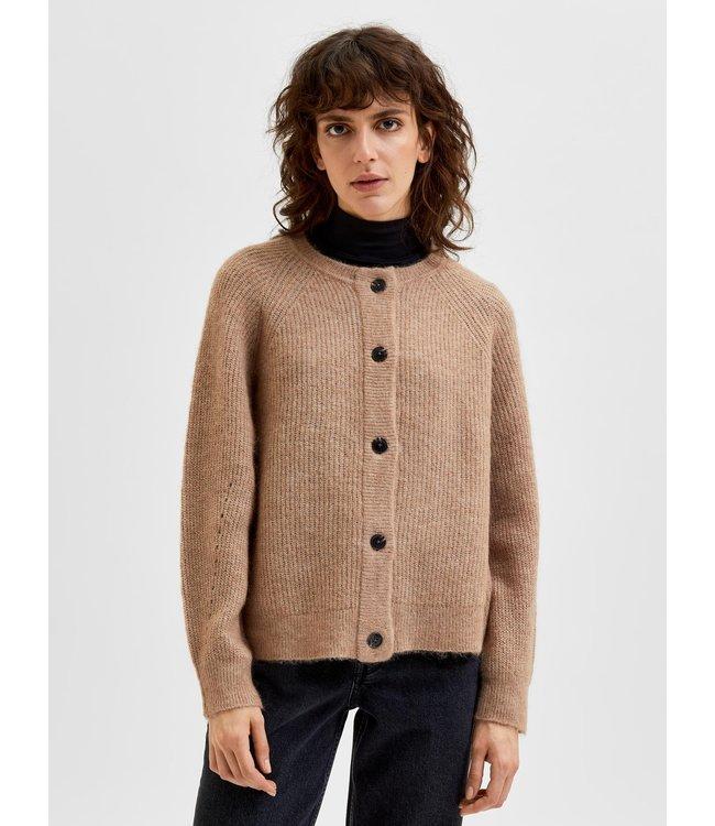 SLFLULU LS Knit Short Cardigan - Amphora