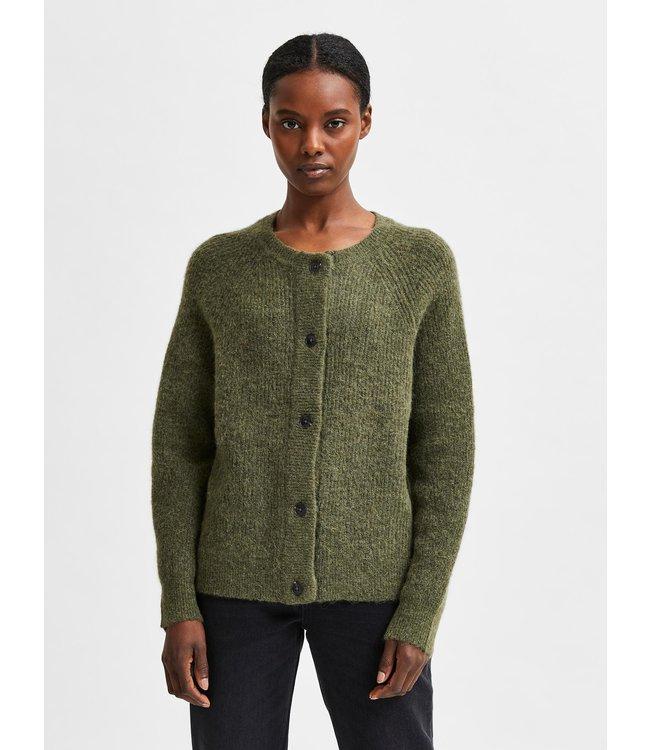 SLFLULU LS Knit Short Cardigan - Kalamata