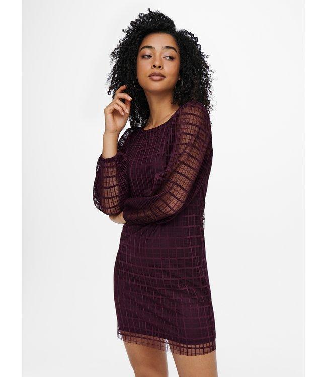 JDYFLONIA L/S Dress - Winetasting