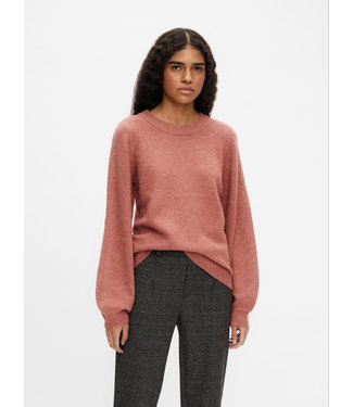 Object OBJEVE NONSIA Knit Pullover - Withered Rose Melange
