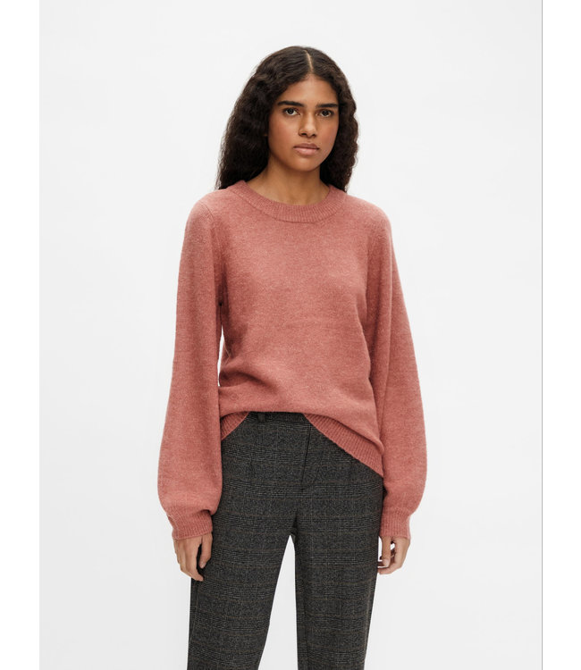 OBJEVE NONSIA Knit Pullover - Withered Rose Melange