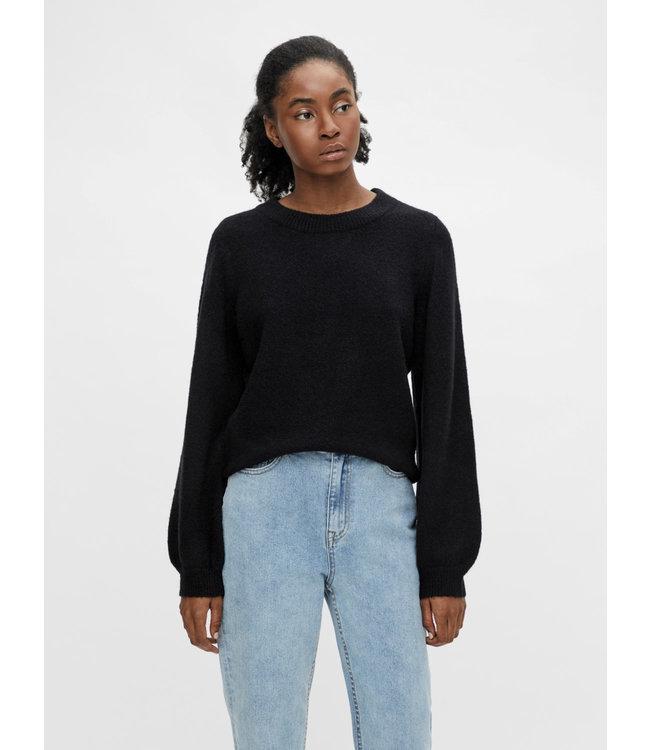 OBJEVE NONSIA Knit Pullover - Black