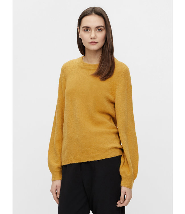 OBJEVE NONSIA Knit Pullover - Honey Mustard