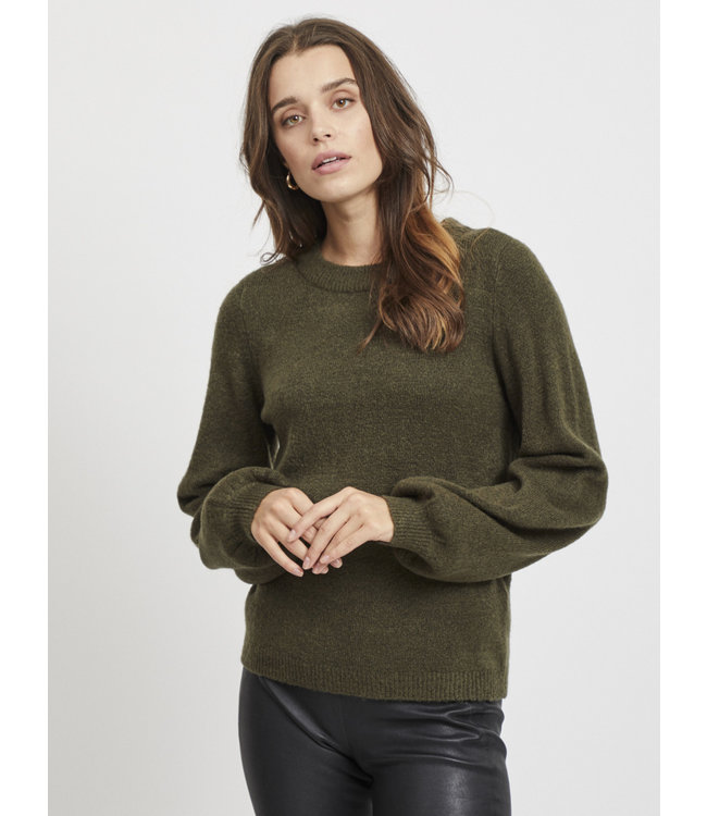 OBJEVE NONSIA Knit Pullover - Forest Night
