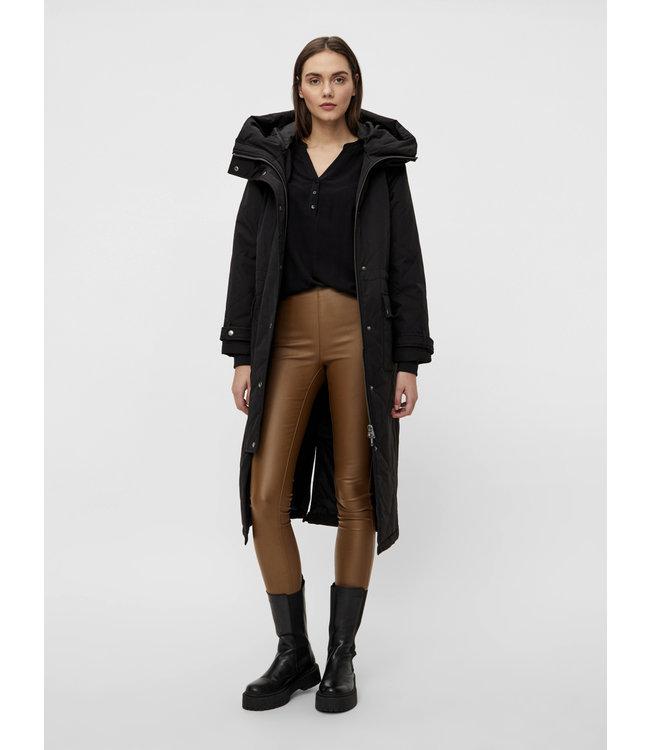 OBJKATIE Long Coat NOOS - Black