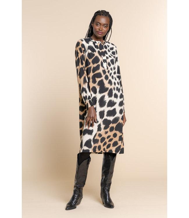 Dress 17609 - Black-Sand Combi