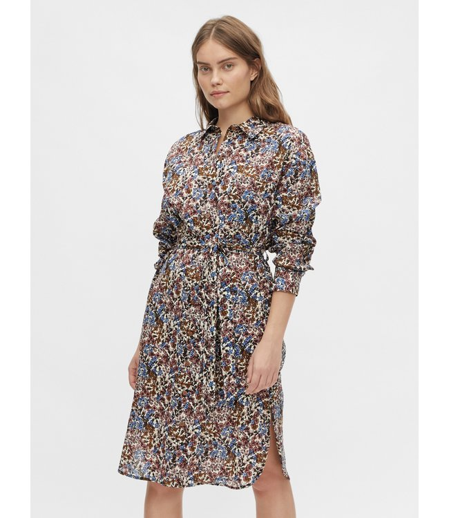 OBJPENELOPE Shirt Dress - Mazarine Blue