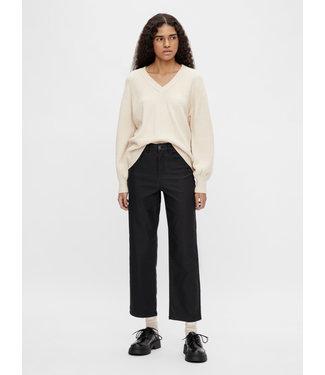 Object OBJMOJI Belle Coated Jeans - Black