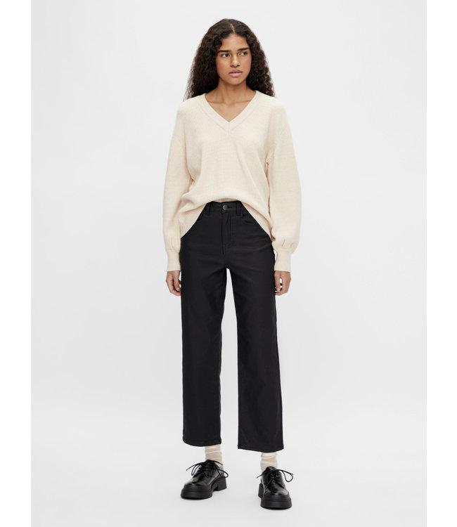 OBJMOJI Belle Coated Jeans - Black