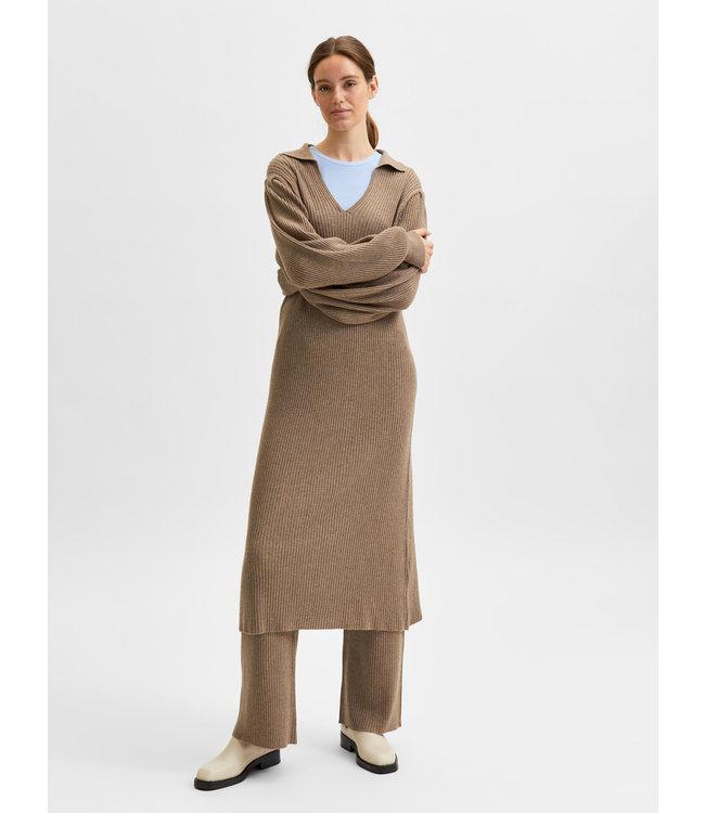 SLFSELENE Knit Dress - Amphora Melange