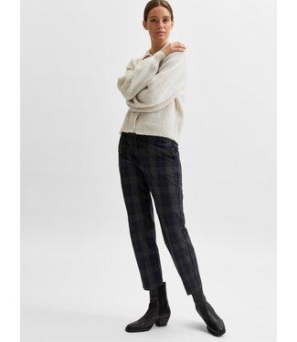 Selected Femme SLFRIA Cropped Pant - Dark Sapphire Checks