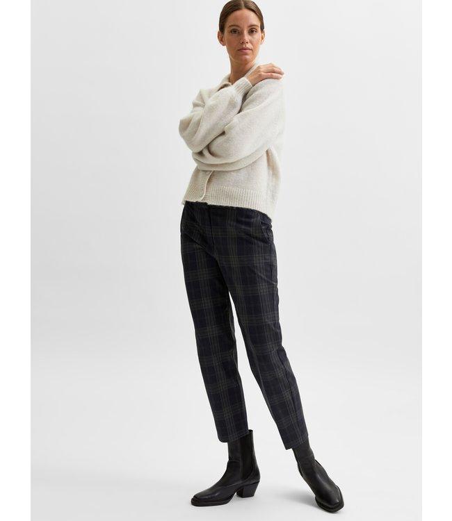 SLFRIA Cropped Pant - Dark Sapphire Checks