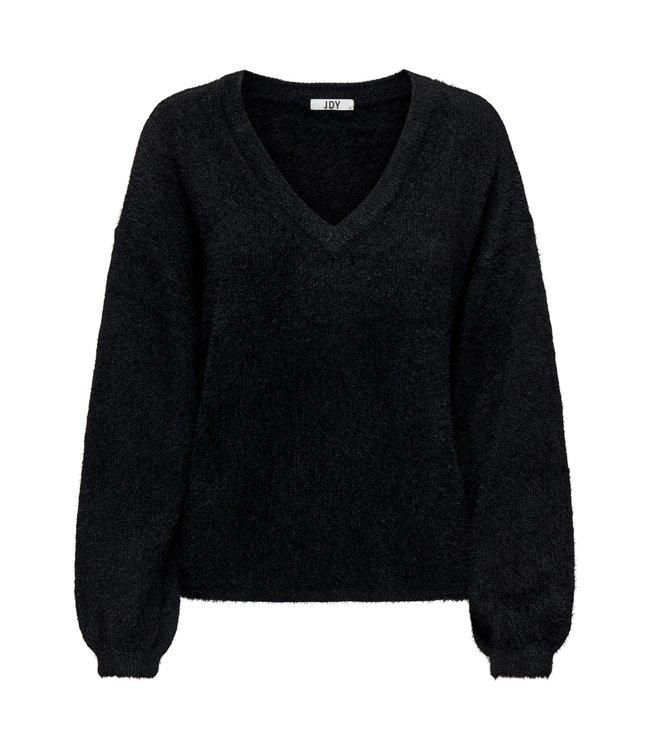 JDYALESSI Life V-Neck Pullover - Black