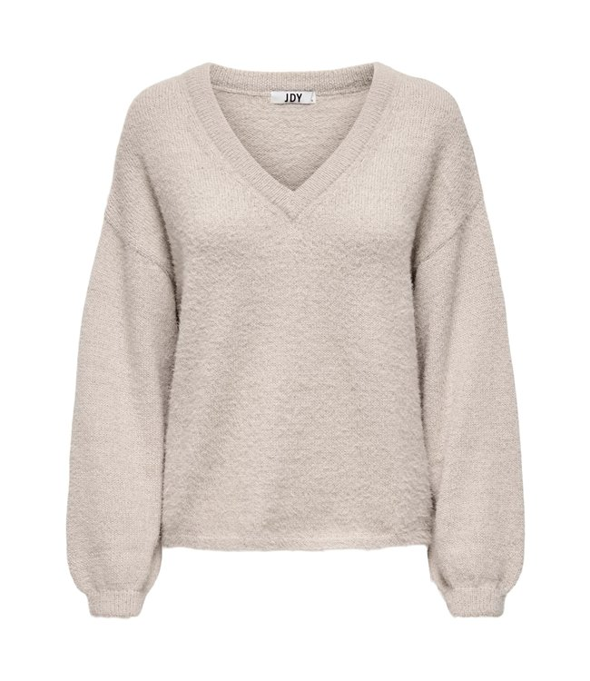 JDYALESSI Life V-Neck Pullover - Simply Taupe