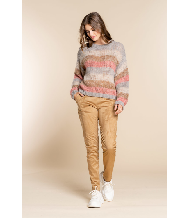 Suedine Pants - Camel