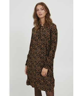 b.young BYJOSA V-Neck Dress - Tobacco Brown Mix