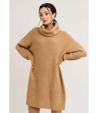Rut&Circle Alex Knit Dress - Camel