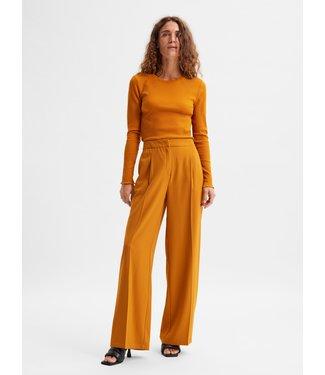 Selected Femme SLFTINNI Wide Pant - Pumpkin Spice