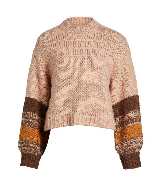 OBJHUDSON Knit Pullover - Bellini
