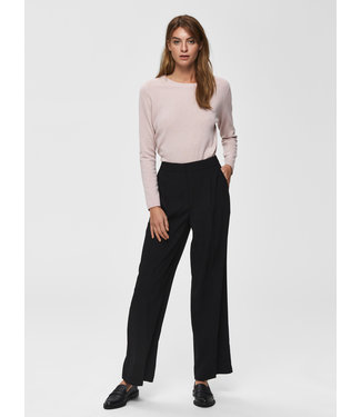 Selected Femme SLFTINNI MW Wide Pant NOOS - Black