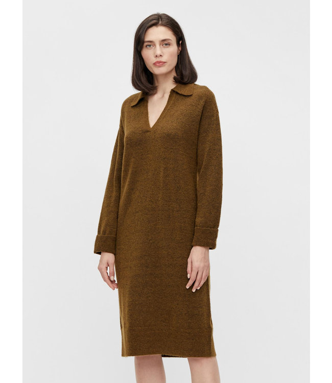 OBJLAUREN Knit Dress - Sepia
